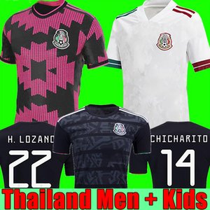 TOP Mexico soccer jersey home away Camisetas 20 21 CHICHARITO LOZANO DOS SANTOS 2020 2021 football shirts Men + Kids kit uniforms maillots