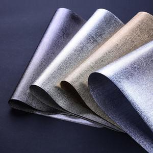 Hochklasse Europa Stil PVC Tischsets Rechteck Metall Texure Hitzebeständige Pads Abendessen Dish Plates Matten Geschirr