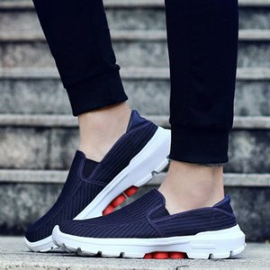 Gilaugh Новый стиль мужчины повседневные туфли легкие дышащие удобные моды мужские квартиры размер обувь размер LJ201124