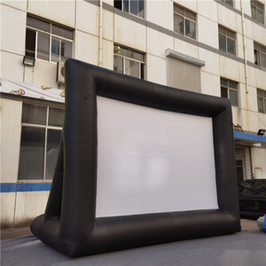 Giant PVC Tarpaulin Inflatable Movie Screen Inflatables TV Projector Screen with free delivery For Outdoor Happy Family Gathering