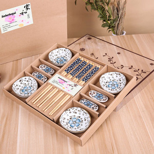 Piatti in ceramica in ceramica in ciliegio in stile giapponese piatti Sashimi Set di stoviglie Dinnerware Set di stoviglie Set di stoviglie (12pcs / Set)