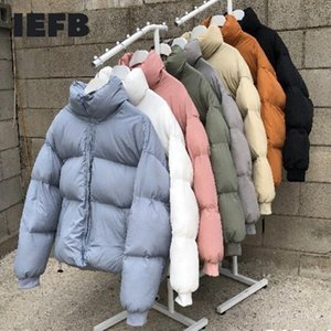 IEFB / Herrenbekleidung Korean Multi-Farbe Kurzer Stil Baumwolle-gepolsterte Kleidung WitNer Kleidung Paar Koreanische Mode Übergröße 9Y3697