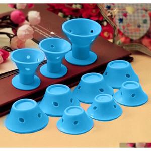 10pcs set Soft Rubber Magic Hair Care Rollers Sile Hair Curler No Heat No Clip Hair Curling qylPfL sweet07
