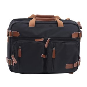 15 Inch Convertible Briefcase Men Business Handbag Messenger Bag Casual Laptop Multifunctional Travel Bags For Male Big