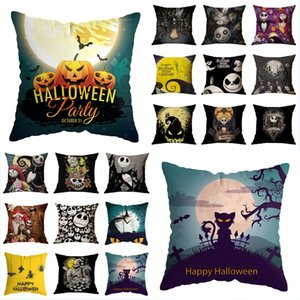Halloween Pillow Case 34 Style Skull Pumpkin Printed Pillow Cover Sofa Throw Pillowcase Car Office Home Decor Party Gift Free DHL LQQ162