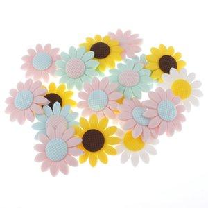 Sun Flower Beads silicone 10pcs 5-colori della collana di Teether Silicone Silicon Bambino di dentizione Bpa libero Mordedor Silicona regalo 201013