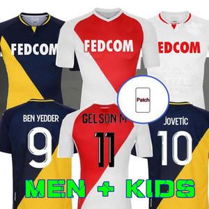 2020 2021 Fabregas As Monaco Ben Yedder Футбольные трикотажки Jovetic Golovin 20 21 Maillot de Foot Flocage Jorge Men Детская футболка