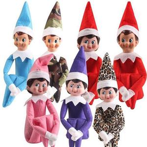 muñeca 2020 de alta calidad al por mayor 10 estilos regalos de Navidad de Santa Claus Elf en el juguete ornamento regalo de la decoración del árbol del envío libre estante