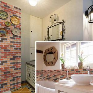 3d Fashion Stone Brick Wallpaper Diy Self Adhesive Pvc Bathroom Wall Decor Wallpapers Bedroom Living Room Wall Paper Mural Ez092