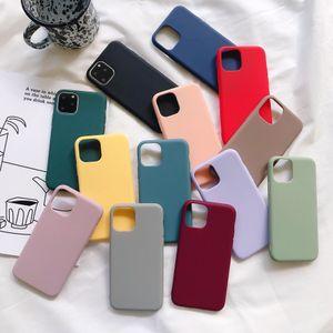 Candy Color Matte Case Soft TPU Cover For iphone 12 11 Pro Max XS MAX XR X 6 7 8 plus Galaxy S10 S20 NOTE 10 A10S A71 100PCS LOT CRexpress