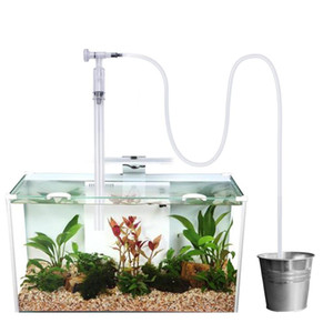 aquarium fish tank gravel sand cleaner with flow control vacuum siphon water exchanger perfect for cleaning medium and large scale fish M6w