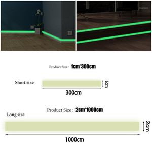 Luminous band baseboard Wall Sticker decoration decal Glow living room bedroom Eco-friendly home in the dark DIY Strip Stickers1