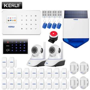 Системы сигнализации Kerui G18 GSM Безопасность Дом Солнечный Siren WIFI Крытый камеры детектор дыма детектор утечки газа Главная Охранной Kit