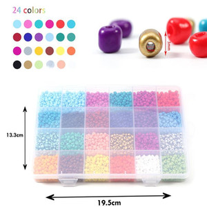 2 3 4mm Glass Seed Beads Jewelry Making Kit Beads For Bracelets Bead Craft Kit Set, Glas Seed Letter Alphabet qylMot