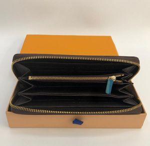 ZIPPY WALLET VERTICAL la plus élégante façon à transporter des cartes d'argent et des pièces célèbres hommes de conception porte-cartes porte-monnaie en cuir longues busines