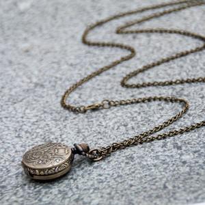New quartz small Roman word pocket watch necklace vintage jewelry wholesale Korean edition sweater chain fashion watch
