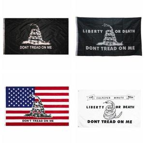 90*150cm Gadsden Flag DONT TREAD ON ME Snake Flag USA Presidential Americal flags Gadsden Flags CYZ2900