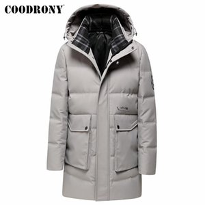 COODRONY Winter Down Jacket Men Clothes Streetwear Fashion Big Pocket Hooded Coat Casual New Arrival Thick Warm Long Parka Y8062