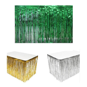 274cm العاشر 74CM PARTY TABLE SKIRT DECORATIONS الخضراء
