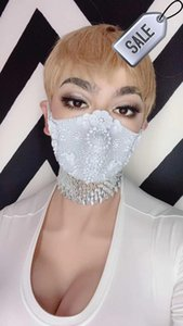Máscaras Club de diseño Piedras Rhinestones Sexy 017A Disfraz Moda Cosplay Etapa Parte Face Singer Wear Performance Tujbs