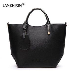 LANZHIXIN Big cuir Femmes sacs à main de grande capacité Tote Cross Body seau Sac Sacs de créateurs de luxe Femmes Sacs 2020