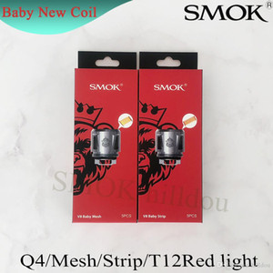 Authentic Smok TFV8 Baby New Beast Coil Testa V8 Baby Q4 Mesh Strip T12 Light T12 0.15ohm Bobine per TFV12 Baby Prince Tank