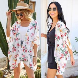 Colorido floral quimono mujer 2021 bluse feminino verão praia longo cardigan mulheres vintage boho blusa top kimono femme camisa g31