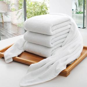 70*140cm Hotel Bath Towels Guest House 100% Cotton White Towel Soft Bathroom Supplies Unisex Usage Natural Safe Bath Towel FFF4019
