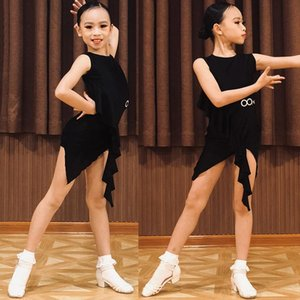 Kids Professional Dance Dress Latin Girls Sleeveless Practice Clothes Summer Party Dress Ballroom Tango Stage Costume New BL4168