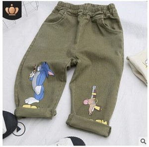 2020 new woven boys' trousers children's clothing autumn 2020 Korean children's pants cartoon printing casual overalls wholesale