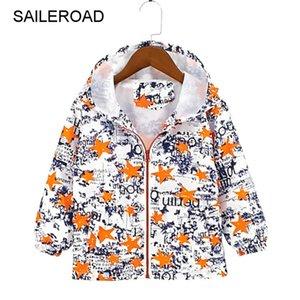 Saileroad الخريف الأزياء الكرتون أطفال الأولاد سترة الأطفال الرياح قميص طفل رضيع تريش معطف هوديي 201106