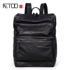 HBP AETOO модный кожаный рюкзак, мужская компьютерная сумка, голова, кожаная большая емкость гора подъемный рюкзак