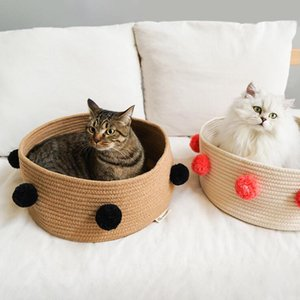 Cat Nest Dog Cat Bed Bed Cats Kennel House Pet Sleeping Mat Nido per Piccolo cane adatto per gatti Cucciolo Puppy Sleep Mat Pad Pet Letto forniture Zyy349