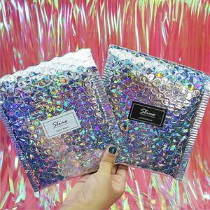 أكياس الفضة بالليزر الأظافر الفضة الأكياس Speedy Mailers Waterproof Aws Bubble Mailers Bubble Bubble هدية تغليف حقيبة ZYY537