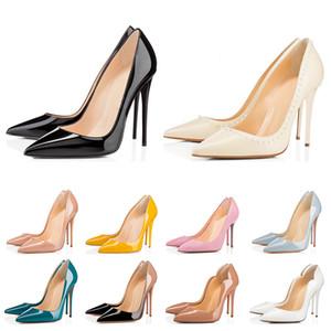 NEW RED donne inferiori alti che wedding partito triple nere nude giallo pink glitter picchi studes Toes pompe dei pattini di vestito formato 35-42