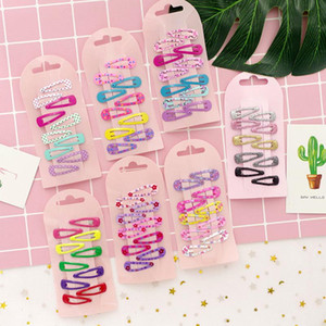10 Pcs set Simple Colorful Paint Children's BB Hair Clips for Child Baby Cute Small Mini Hairpins Printing Hair Headdress 3.5cm
