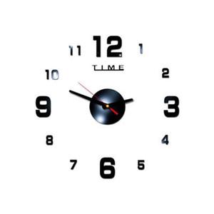 Modern Design Crushed Quartz Clocks Fashion Watches Mirror Sticker DIY Home Living Room Decor New Arrival 3D Wall Clock Free Shipping
