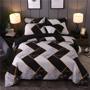 Geometric Patterns Bedding Set Queen King Duvet Cover Set Marble Quilt Cover GH01#