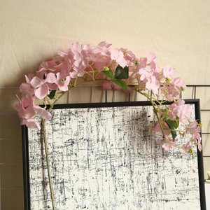 6 pçs / lote 105cm longas hydrangea seda flores videira pendurado flor parede decoração artificial flor decoração de casa decoração Falske flores