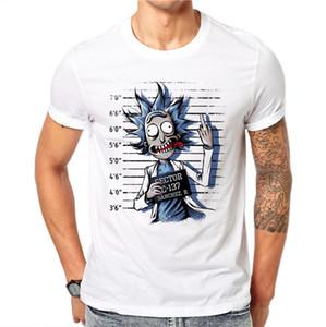 Men's T Shirt Novel Prisoner Design Pattern Printing White Short Sleeve