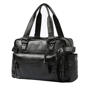 Men Bags Handbags Leather Shoulder Messenger Bags Large Capacity Business Travel Laptop Bag Male Briefcase Big Tote Bolsa Hombre