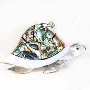 Kaplumbağa Hayvan Kolye Doğal Abalone Shell Kolye Charms Annesi Inci Shell Kolye Takı Bulguları Için Hediyeler H Hediyeler H BBYRFA