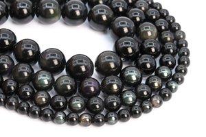 Takı Yapımı İçin Gökkuşağı Obsidian Taş Gevşek Boncuk Yuvarlak 6mm 8mm