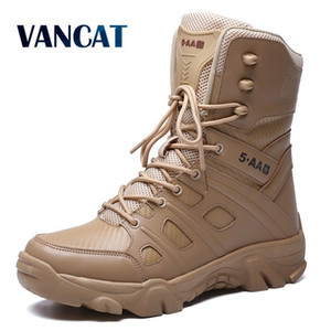 Military Tactical Mens Boots Special Force Leather Waterproof Desert Combat Ankle Boot Army Work Men's Shoes Plus Size 39-47 201019