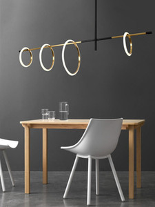 Modern living room LED Magnetic attraction chandelier lighting restaurant Pendant Lamp Acrylic bedroom deco Ring Hanging Lights