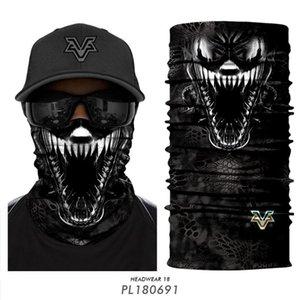 3D-Motorrad-Buffs Stirnband braga cuello Venom Gesichtsmaske Radfahren Hals Gamasche Seamless Bandana Halloween Joker Schal Balaclava