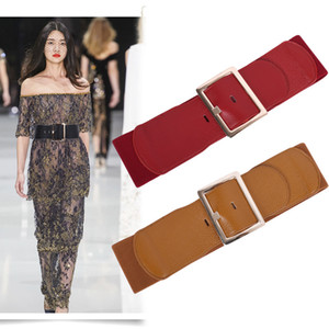 DHL SHIP Ladies New Elegant wide Leather Belt women's wide belt waistband cloth belts waist Girdle with Zinc alloy buckle NPYF-0006