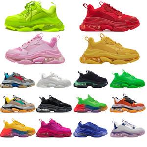 2020 Paris Crystal Fond Triple S Chaussures de loisirs de Luxe Papa Chaussures Triple S Baskets Triple S pour hommes Femmes Vintage Kanye Old Grand-père entraîneur
