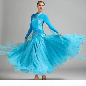 New Arrival Ballroom Dancing Costumes Girls Modern Dance Dress Lady Waltz Tango Dancing Uniform Dance Costume 9 Colors B-6140