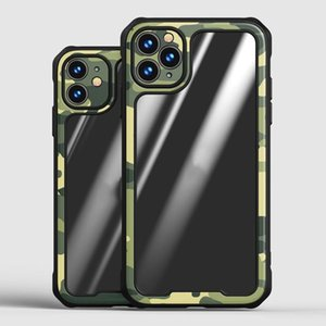 Transparent Camouflage Phone Case For iphone 12 Pro Max Fashion Clear Airbag Protective cover For iphone 12 Mini